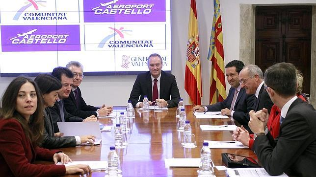 Imagen de la reunión celebrada este martes en el Palau de la Generalitat