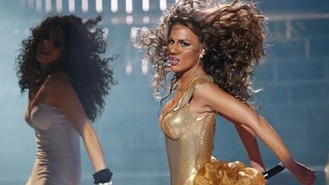 Edurne, imitando a Beyoncé en «Tu cara me suena»