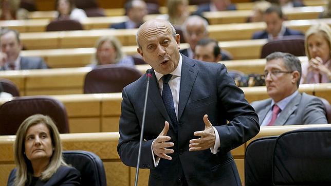 José Ignacio Wert, durante una comparecencia en el Senado