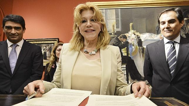 La baronesa Carmen Thyssen-Bornemisza