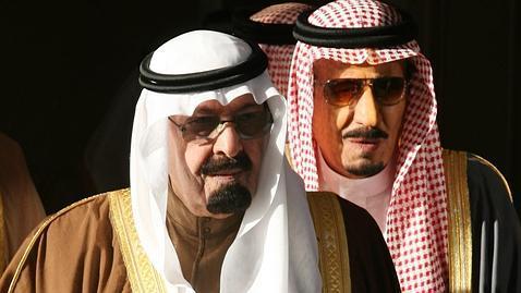Los hermanos, Abdalá bin Abdulaziz y Salman bin Abdulaziz, en marzo de 2007