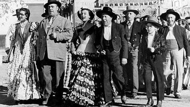 Fotograma de la película de Berlanga, «Bienvenido Mister Marshall»