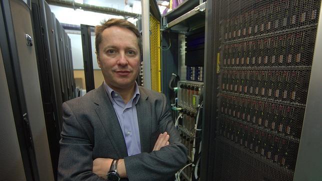 El director del Instituto Max Planck de Óptica Cuántica en Munich, Ignacio Cirac, en un momento de la entrevista con ABC