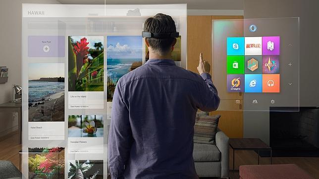 Microsoft invita a ver el futuro desde las imágenes holográficas de Hololens