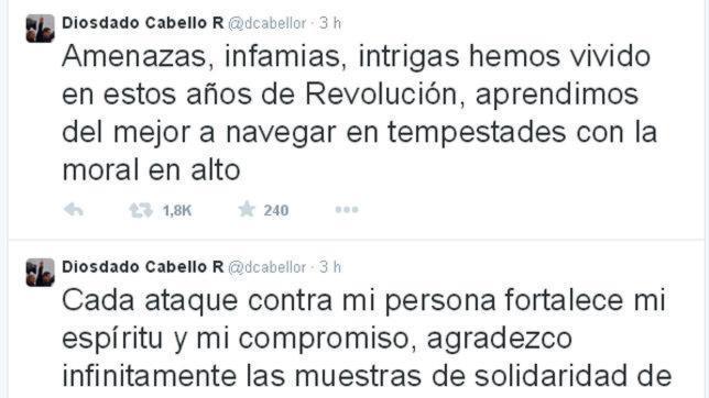 Cabello reduce a «amenazas e infamias» su presunto vínculo con el narcotráfico