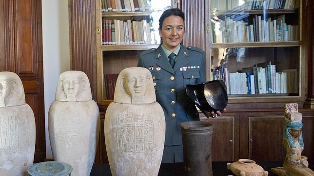 Varias de las piezas que ha recuperado la Guardia Civil