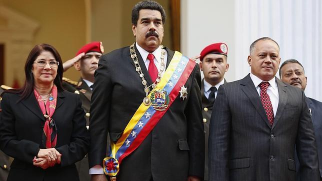 Diosdado Cabello, junto con Nicolás Maduro durante el pasado Discurso sobre el Estado de la Nación