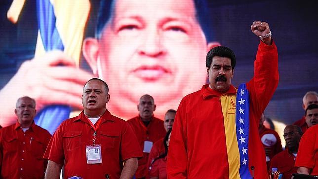 Maduro y Cabello durante un acto oficial