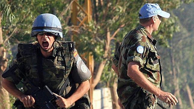 Un soldado grita tras el ataque sufrido por un blindado español en junio de 2007