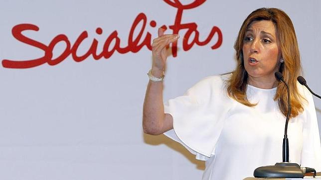 Susana Díaz, en un acto del PSOE
