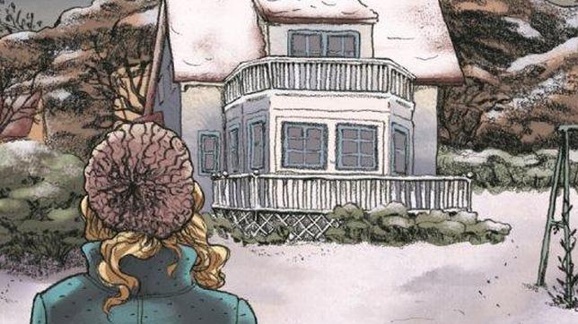Viñeta de la versión en cómic de «La princesa de hielo», de Camilla Läckberg