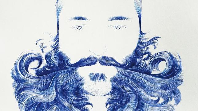 «Bluebeard», de O. Flandrois, una de las piezas de la muestra «To Shave or Not to Shave», en la Alianza Francesa de Málaga