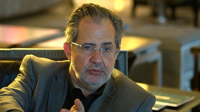 Miguel Henrique Otero, presidente editor del diario venezolano «El Nacional», durante la entrevista en Madrid