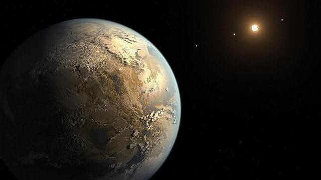 Ilustración del planeta extrasolar Kepler-186f, en la zona de habitabilidad de su estrella