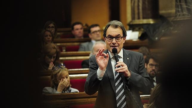 Artur Mas, en la sesión de control de pasado mes de diciembre