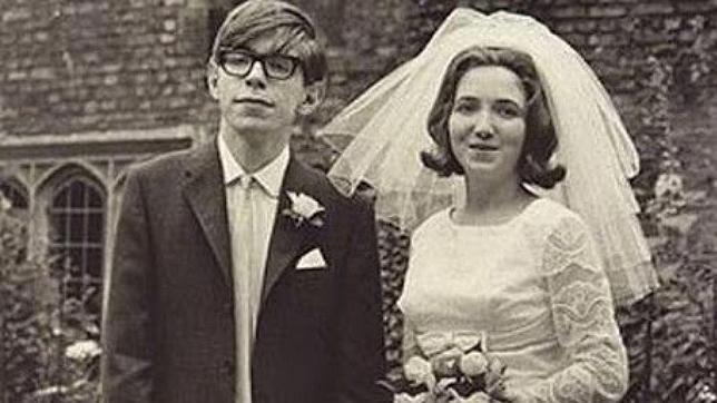 Hawking y su exesposa Jane el día de su boda