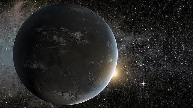 Recreación de un planeta descubierto por el telescopio Kepler fuera del Sistema Solar