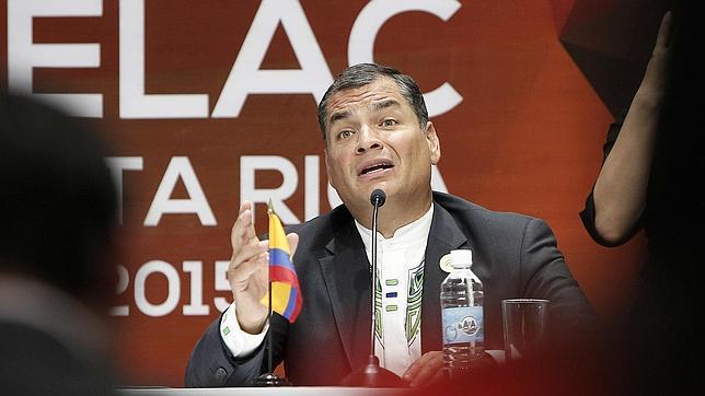Correa durante la cumbre de la Celac al 29 de enero en Costa Rica