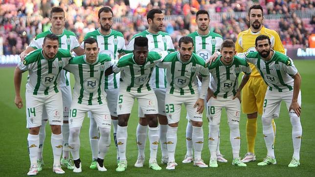 Una alineación del Córdoba de esta temporada