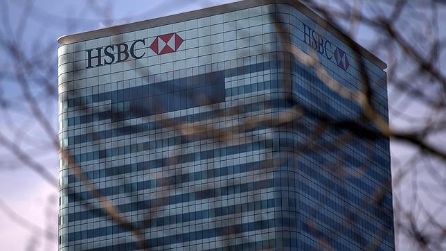 Imagen de un edificio del banco suizo HSBC en Londres