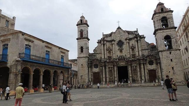 Plaza de la Catedral, en La Habana