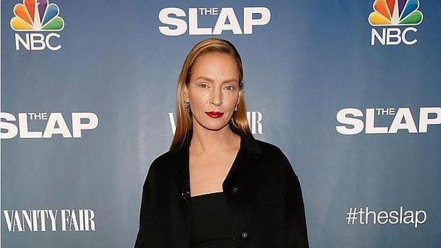Una irreconocible Uma Thurman en la premiere de «The Slap»