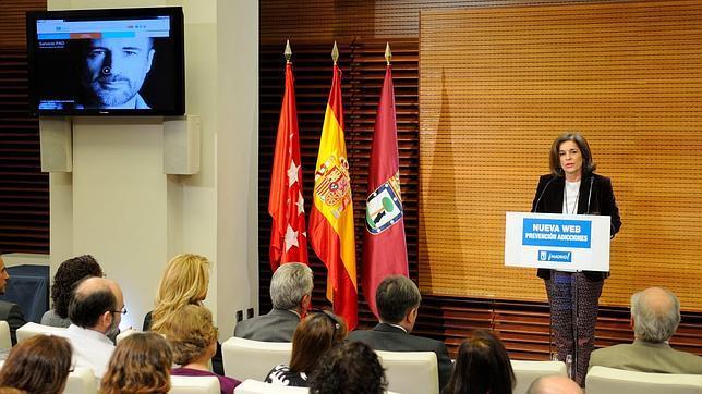 Ana Botella, alcaldesa de Madrid, durante el acto de presentación.