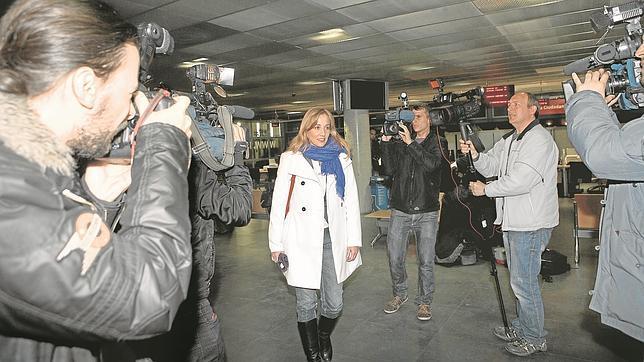 Tania Sánchez, a su llegada a la comisión de investigación el pasado 7 de enero