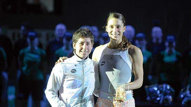 Andrea Petkovic aprovechó la oportunidad y se llevó el título