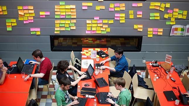 Desarrolladores en la Wikimedia Hackathon 2013,  en Holanda