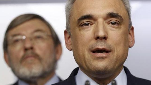 El presidente de la gestora que ahora dirigel PSM, Rafael Simancas