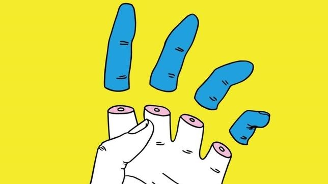 Fragmento de «Mano troceada», del ilustrador valenciano