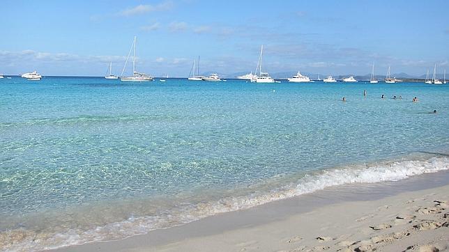 Playa balear de Ses Illetes, en Formentera