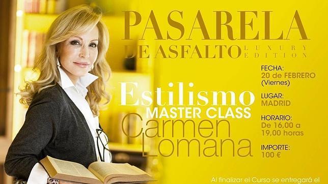 Los alumnos que deseen aprender los secretos de estilo de Carmen Lomana deberán pagar 100 euros por cabeza