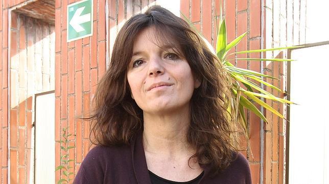 La escritora francesa, durante la presentación del libro en Barcelona