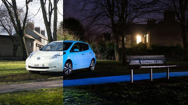 Diferencia de día y noche de la novedosa pintura propuesta por Nissan.