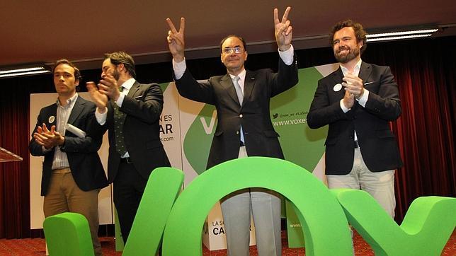 Javier Cortes, Santiago Abascal, Alejo Vidal Quadras e Ivan Espinosa de los Monteros