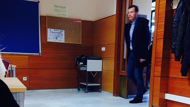 Tomás Gómez, el jueves, a la vuelta a sus clases de la Carlos III tras su destitución