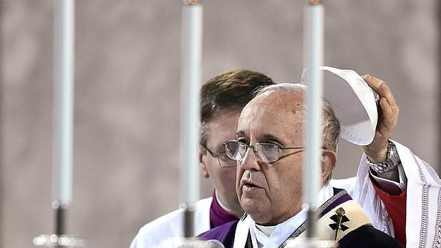 El Papa, el pasado miércoles durante la misa del Miércoles de Ceniza
