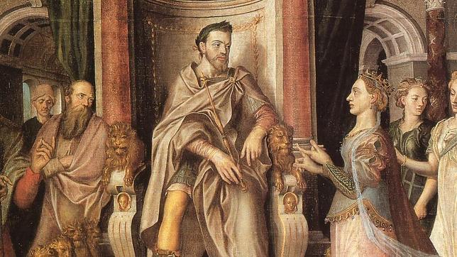 Felipe II caracterizado como Salomón (Lucas de Heere, 1559), Catedral de San Bavón en Gante