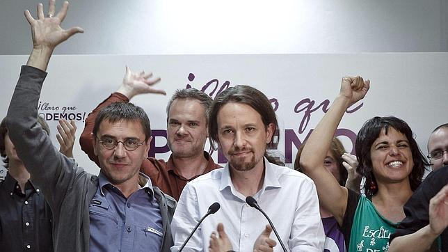 Podemos consiguió cinco eurodiputados en las elecciones europeas de 2014
