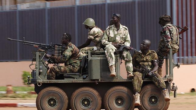 Soldados de Seleke Seleka en Bangui