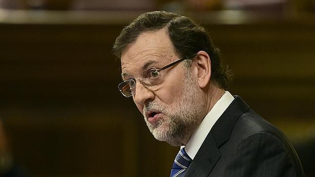 Mariano Rajoy, hoy, en el debate sobre el estado de la Nación