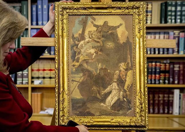 Estados Unidos devuelve a Italia una obra de Tiepolo y una escultura etrusca robadas