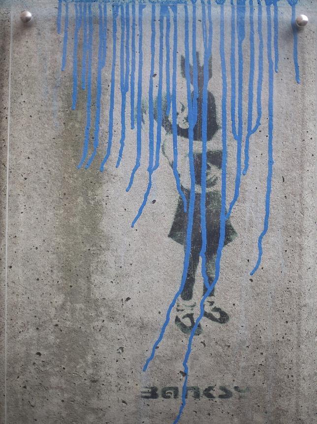 Dañan la única obra de Banksy en Alemania