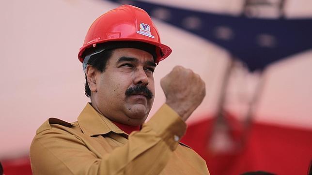 Nicolás Maduro, en un acto de gobierno este miércoles en el estado Bolívar (Venezuela)