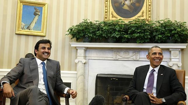 Emirato de Qatar. Intervenciones internacionales. Propietario del 9,52 % del capital de Iberdrola. - Página 2 Obama-qatar--644x362