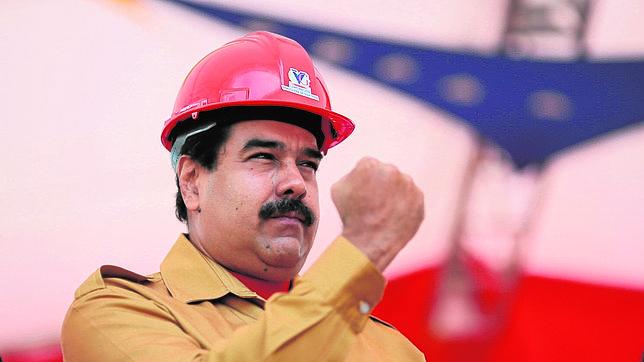 Maduro en un acto de gobierno este miércoles en el estado Bolívar (Venezuela).