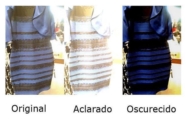 Que color es el vestido azul o blanco