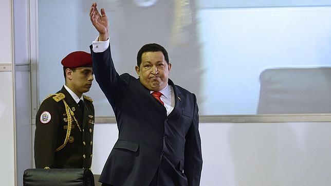 Hugo Chávez, tras ganar las elecciones presidenciales de 2012